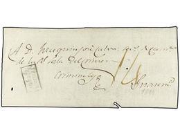 """SALVADOR. (1811 CA.). Frontal De Plica Judicial Dirigida A GUATEMALA. Marca SENSUN/TEPEQUE Y Porte De """"14"""" Reales. - Sellos"""