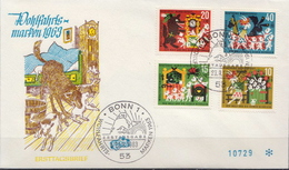 Germany Set On FDC From 1963 - Fairy Tales, Popular Stories & Legends