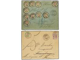 SUIZA. 1879-97. Six Covers With POSTAGE DUE Stamps. - Sellos