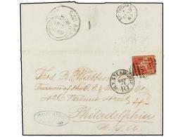 VENEZUELA. 1869. CIUDAD BOLIVAR To PHILADELPHIA (Usa). Entire Letter Sent From B.P.O. Of CIUDAD BOLIVAR Franked With TRI - Sellos