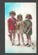 Fantasy / Fantaisie / Fantasie Kaart - Fillettes / Girls / Meisjes - 1923 - Groupes D'enfants & Familles
