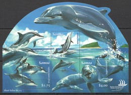 U1008 2005 SAMOA FISH & MARINE LIFE DOLPHINS STAMP EXPO AUSTRALIA 1KB MNH - Dauphins