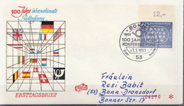Germany Stamp On Used FDC From 1963 - [7] Federal Republic