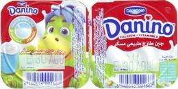 Algérie- Danone -Danino  2 Opercules . - Koffiemelk-bekertjes