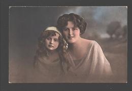 Fantasy / Fantaisie / Fantasie Kaart - Fillette / Girl / Meisje Met Moeder - 1928 - Lepogravure - Gruppen Von Kindern Und Familien