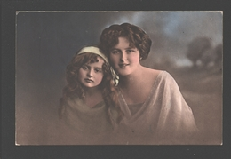 Fantasy / Fantaisie / Fantasie Kaart - Fillette / Girl / Meisje Met Moeder - 1928 - Lepogravure - Groupes D'enfants & Familles