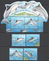 U1009 PITCAIRN ISLANDS FISH & MARINE LIFE DOLPHINS 1BL+1SET !!! MICHEL 17 EURO !!! MNH - Dauphins