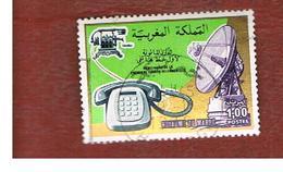 MAROCCO (MOROCCO)  -  SG 468  -   1976  TELEPHONE CENTENARY  - USED ° - Marocco (1956-...)