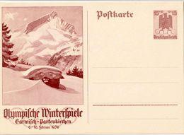 Deutsches Reich 1935: Bild-PK CPI IV.Olympische Winterspiele Garmisch-Partenkirchen (ungelaufen / Non Circulé) - Winter 1936: Garmisch-Partenkirchen