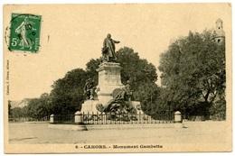 CAHORS - Monument Gambetta -  J.Girma éditeur - Peu Courante - Voir Scan - Cahors