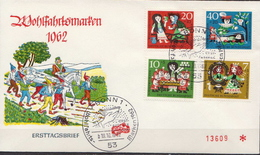 Germany Set On FDC - Fairy Tales, Popular Stories & Legends
