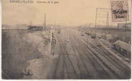 Braine L' Alleud - Intérieur De La Gare - Edit. Bazar National, Braine L' Alleud/Desaix - Stations With Trains