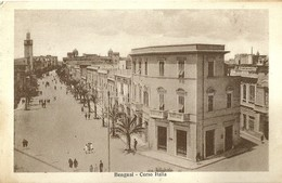 "5078 "" BENGASI-CORSO ITALIA ""ANIMATA - CART. ORIG.  SPED.1934 - Libia"