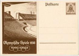 """Deutsches Reich 1936: Bild-PK CPI """"Olympische Spiele Berlin 1.-16.August"""" (ungelaufen / Non Circulé) - Summer 1936: Berlin"""