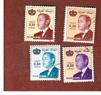 MAROCCO (MOROCCO)  -  SG 592.604    -   1981 KING HASSAN II (DATED 1981)  - USED ° - Marocco (1956-...)