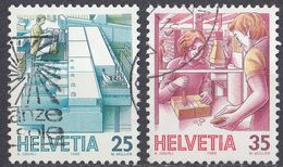 HELVETIA - SUISSE - SVIZZERA - 1986 - Lotto Di 2 Valori Usati: Yvert 1252 E 1253. - Svizzera