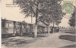 Braine L' Alleud - Station Du Tram - Tram à Vapeur - 1919 - Edit. G. Hermans, Anvers - Tramways