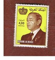 MAROCCO (MOROCCO)  -  SG 605b    -   1983 KING HASSAN II 4,00 (DATED 1983)  - USED ° - Marocco (1956-...)