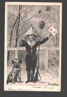 Fantasy / Fantaisie / Fantasie Kaart - Boy In Costume With Dog / Garçon Avec Chien / Jongetje In Kostuum Met Hond - Scènes & Paysages