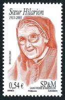 ST-PIERRE ET MIQUELON 2007 - Yv. 882 **   Faciale= 0,54 EUR - Sœur Hilarion, Personnalité Religieuse  ..Réf.SPM11572 - Neufs