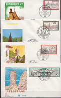 Germany Stamps On 10 FDCs From 1969-72 - Holidays & Tourism