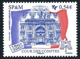 ST-PIERRE ET MIQUELON 2007 - Yv. 885 ** TB  Cote= 2,20 EUR - Cour Des Comptes. Emission Conjointe  ..Réf.SPM11575 - Neufs