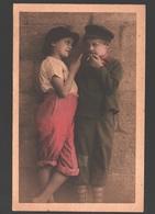 Fantasy / Fantaisie / Fantasie Kaart - Boys Smoking / Garçons Fumants / Jongetjes Aan Het Roken - Scènes & Paysages