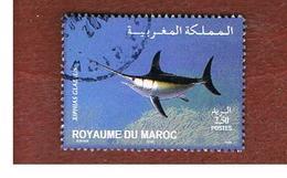MAROCCO (MOROCCO)  -  MI 1468    -  2004  FISHES: XIPHIAS GLADIUS   - USED ° - Marocco (1956-...)