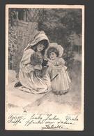 Fantasy / Fantaisie / Fantasie Kaart - 2 Fillettes / 2 Girls With Kitten / 2 Meisjes Met Katje - 1907 - Photogravure - Scènes & Paysages