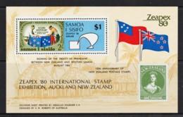 Samoa 1980 Zeapex '80 Treaty Of Friendship Minisheet MNH - See Notes - Samoa