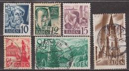 Zone D'occupation Française - BADE - BADEN - Le Hoellental, Foret Noire, Cathédrale De Fribourg - N° 3-4-6-8-12-13 -1947 - Franse Zone
