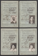 Gard 30 Salinelles - Ensemble De 4 Cartes D'identité PLM Famille Dorte 30% - Chemins De Fer - 1934 - Titres De Transport