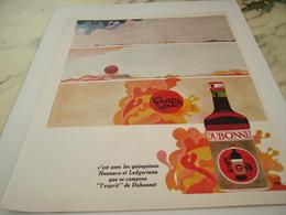 ANCIENNE PUBLICITE ESPRIT APERITIF DUBONNET 1968 - Alcools
