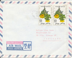 Morocco Air Mail Cover Sent To Denmark 30-4-1981 Topic Stamps Flowers - Morocco (1956-...)
