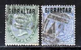 Gibraltar 1886 Yvert 1 - 4 (o) B Oblitere(s) - Gibraltar