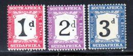 Afrique Du Sud Taxe 1927 Yvert 18 / 20 ** TB - Postage Due