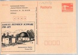 M 527) DDR GS Priv. Zudruck C 86II/72 *: Samuel Heinrich Schwabe Astronom Dessau - Sonstige
