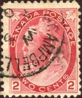 Pays :  84,1 (Canada : Dominion)  Yvert Et Tellier N° :    65 - V 1 (o) - 1851-1902 Règne De Victoria