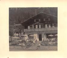 "09454 ""SVIZZERA - AU VIEUX CHAMPEX - ORSIERES - VALLESE - 1954"" ANIMATA. FOTO ORIGINALE - Luoghi"