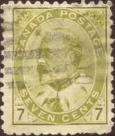 Pays :  84,1 (Canada : Dominion)  Yvert Et Tellier N° :    81 (o)  Sg 181a - 1903-1908 Règne De Edward VII