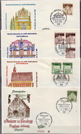 Germany Famous Buildings Stamps On 13 FDCs From 1966-67 - Architecture
