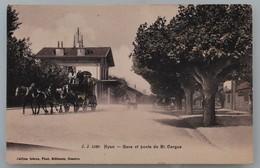 J.J. 5330 - Nyon - Gare Et Poste De St-Cergue - Jullien Frères, Photo-Editeurs, Genève - Vers 1910 - VD Vaud