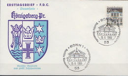 Germany Famous Buildings Stamp On FDC From 1966 - Architecture