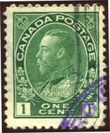 Pays :  84,1 (Canada : Dominion)  Yvert Et Tellier N° :    93 (o)  Sg 196 - 1911-1935 Règne De George V