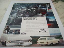 ANCIENNE  PUBLICITE VOITURE OPEL KADETT  1968 - Publicités