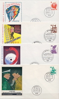 Germany Accidents Set On 10 FDCs From 1971-74 - Architecture