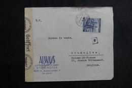 ALLEMAGNE - Enveloppe Commerciale De Bohême Et Moravie Pour La Belgique En 1940 Avec Contrôle Postal - L 39964 - Lettres & Documents