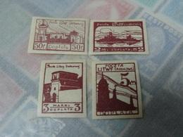 Lithuania 1922 Surcharge Stamр Brands - Lituania