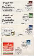 Germany The Brandenburg Gate Stamps On 2 FDCs From 1966-87 - Architecture