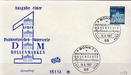 Germany The Brandenburg Gate Stamp On FDC From 1967 - Architecture